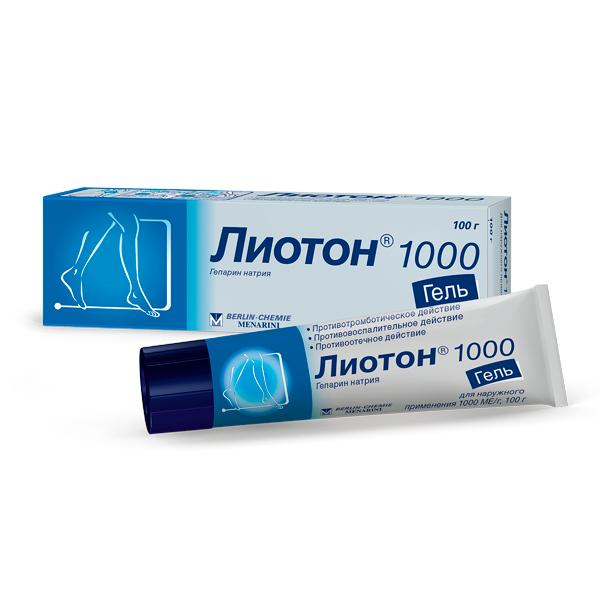 Лиотон 1000 гель (туба 100г)
