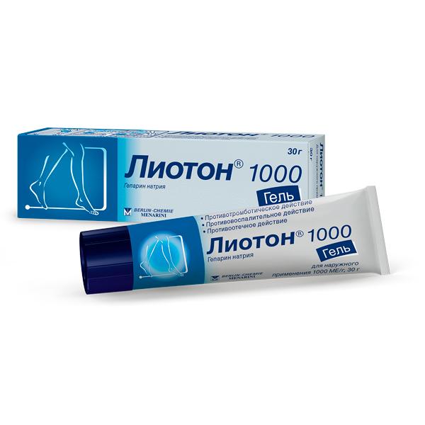 Лиотон 1000 гель (туба 30г)