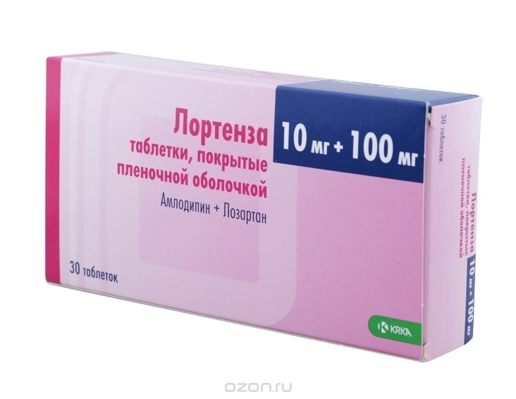 Лортенза (таб.п.пл/об.10мг+100мг №30)