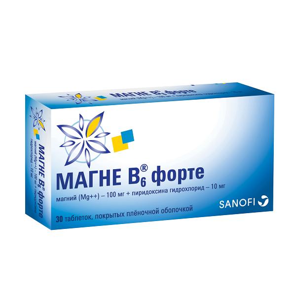 Магне-В6 форте таблетки №30