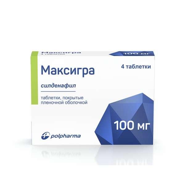 Максигра (таб.п.пл/об.100мг №4)