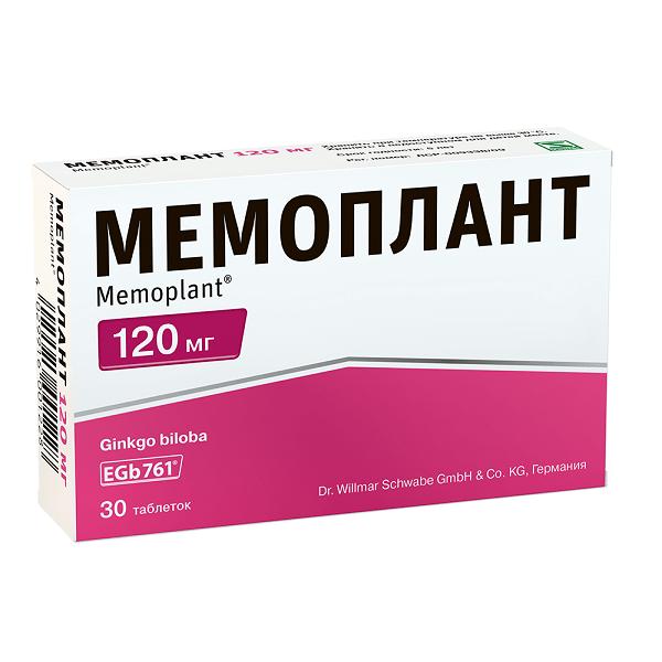 Мемоплант (таб. п/о 120мг №30)