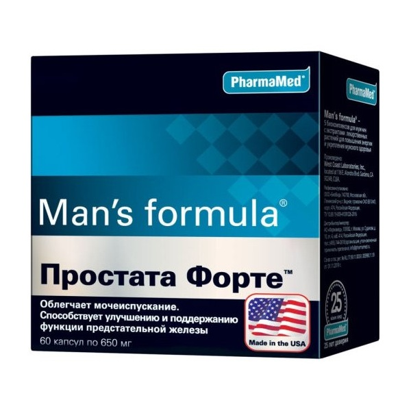 Менс Формула Простата Форте капсулы №60