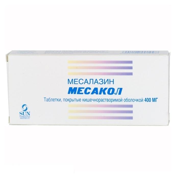 Месакол (таб. п/о 400мг №50)