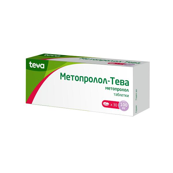 Метопролол-Тева таблетки 100мг №30