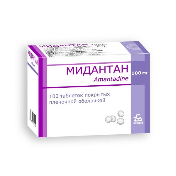 Мидантан (таб. 100мг №100)