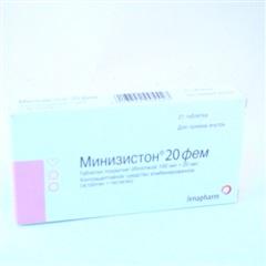 Минизистон 20фем (таб.п/об. №21) фото
