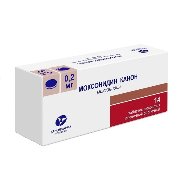 Моксонидин-Канон (таб.п.пл/об. 0,2мг №14)