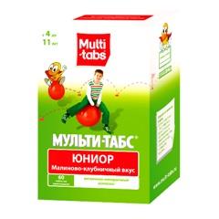 Мульти-табс Юниор таблетки жевательные №60 Малина-Клубника