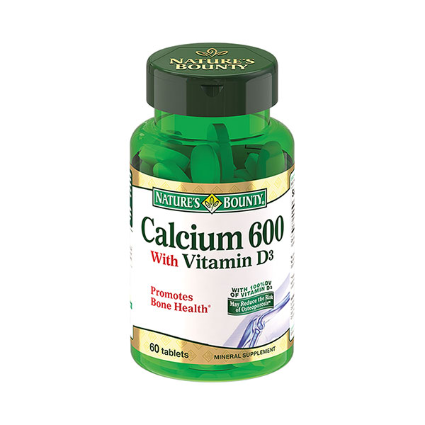 Нэйчес баунти кальций 600 с витамином Д (таб. №60)