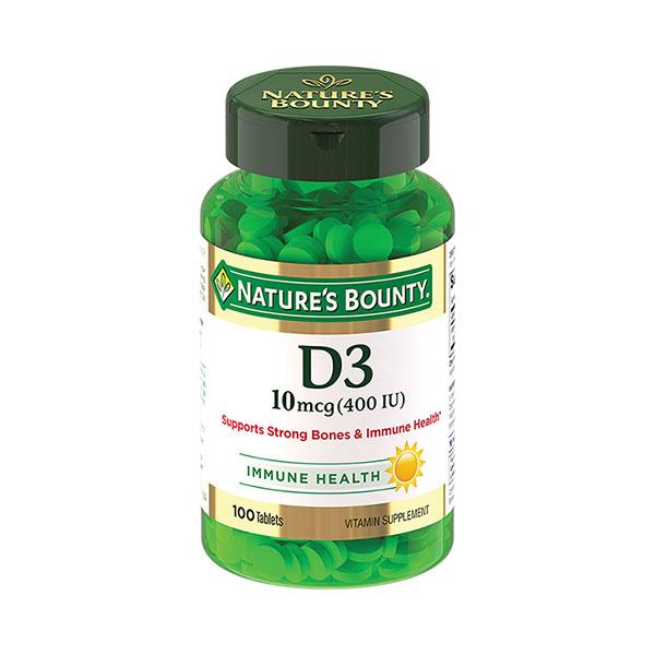 Нэйчес баунти витамин D3 (таб.400МЕ 250мг №100)