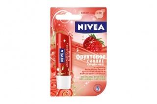 Нивея (лип бальзам д/губ фруктовое сияние клубника
