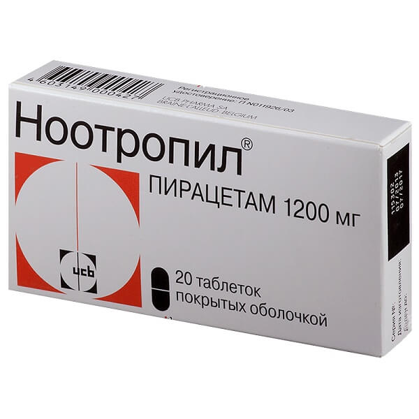 Ноотропил (таб.п/об.1200мг №20)
