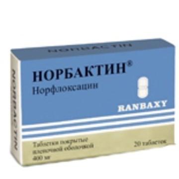Норбактин (таб.п.пл/об.400мг №20)