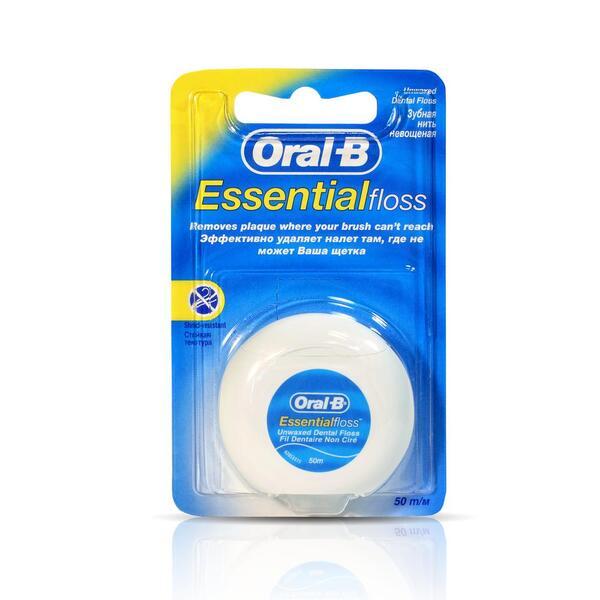 Орал-би зубная нить (Essential флосс невощеная 50м)