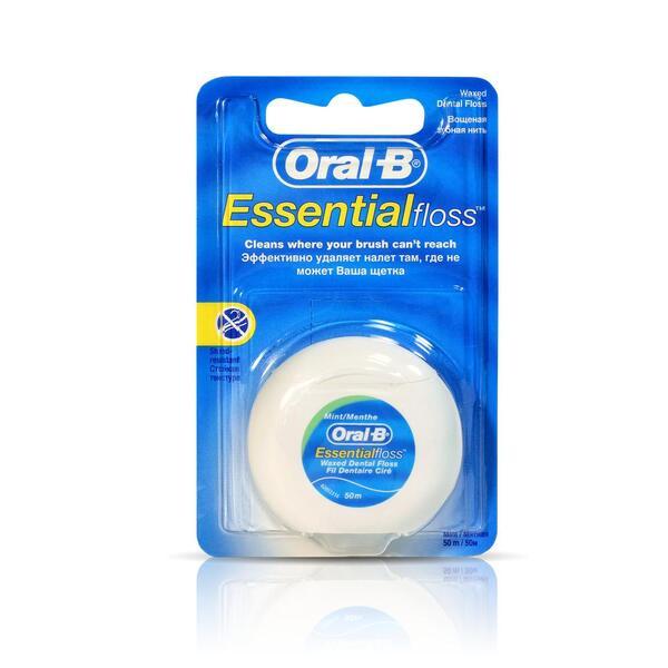 Орал-би зубная нить (Essential флосс вощеная 50м)