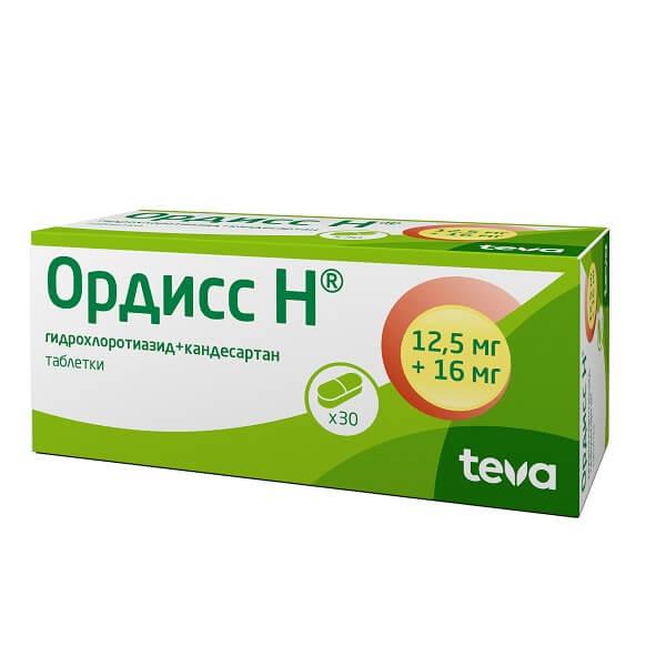 Ордисс Н таблетки 12,5мг+16мг №30