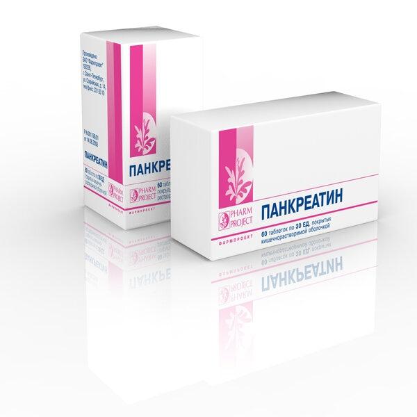 Панкреатин (таб. п/о 30ЕД №60 (фл.))