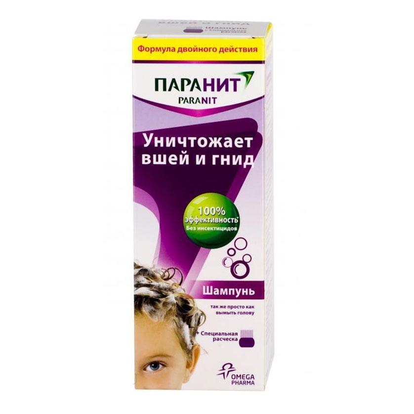 Паранит средство педикулицид шампунь 200мл + расческа