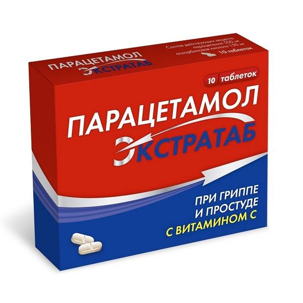 Парацетамол Экстратаб таблетки 500мг+150мг №10