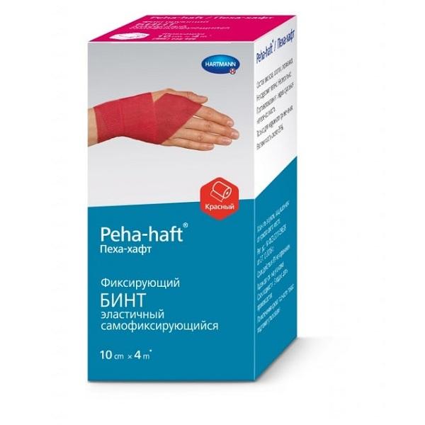 Хартманн бинт Пеха-Хафт красный 4мх10см фото