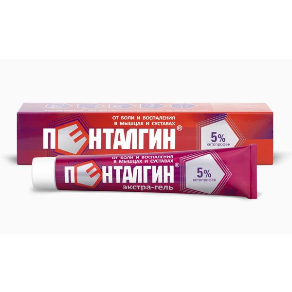 Пенталгин экстра-гель 5% 30г