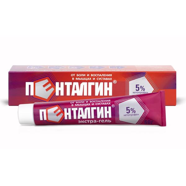 Пенталгин экстра-гель 5% 50г