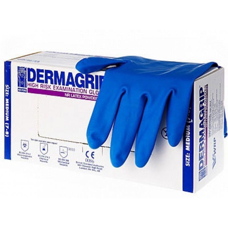 Перчатки Dermagrip латексные нестерильные S фото