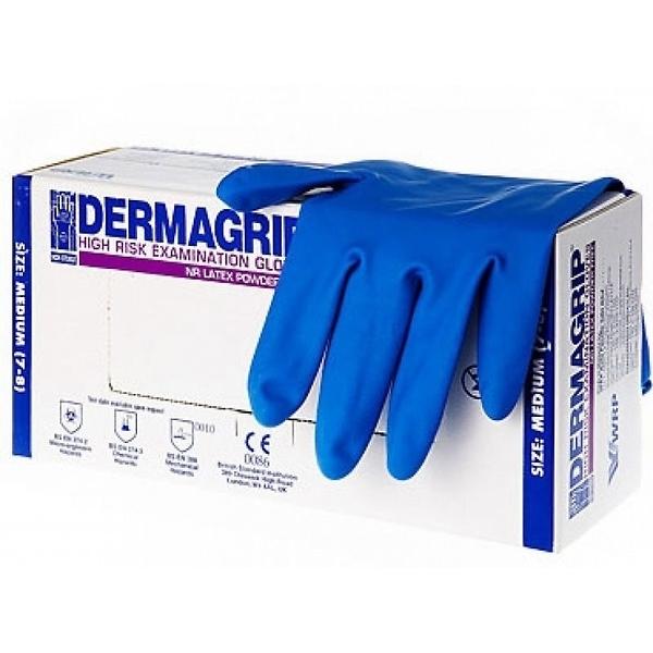 Перчатки Dermagrip латексные нестерильные М