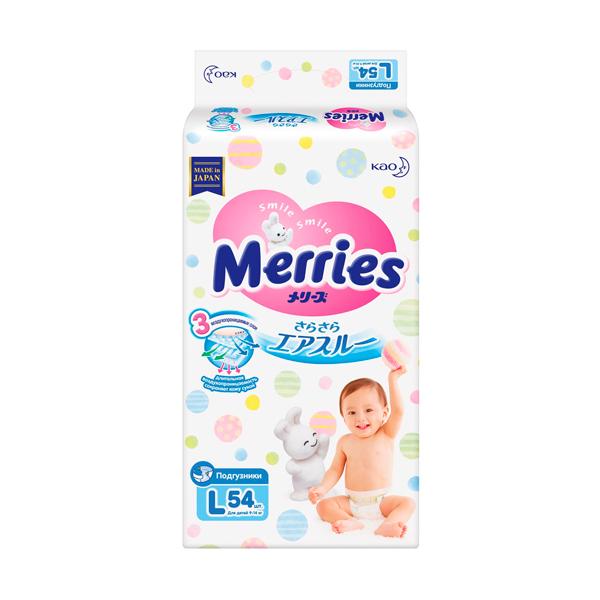 Подгузники MERRIES (9 14 кг №54)