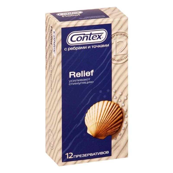 Презервативы Contex №12 ребра/точки
