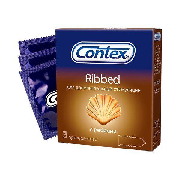 Презервативы Contex №3 Ribbed ребристые