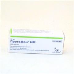 Протафан инсулин НМ флакон 100МЕ/мл 10мл