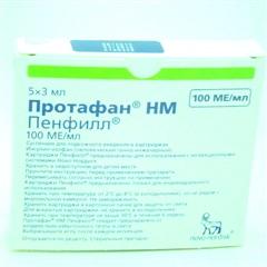 Протафан инс. НМ Пенфил суспензия для инъекций 100МЕ/мл 3мл №5