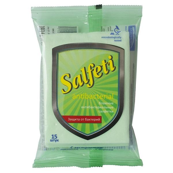 Салфетки влажн. Salfeti (№15 антибакт.с экстр.чайн.дерева)