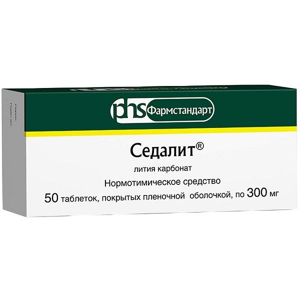 Седалит (лития карбонат) (таб. 300мг №50)