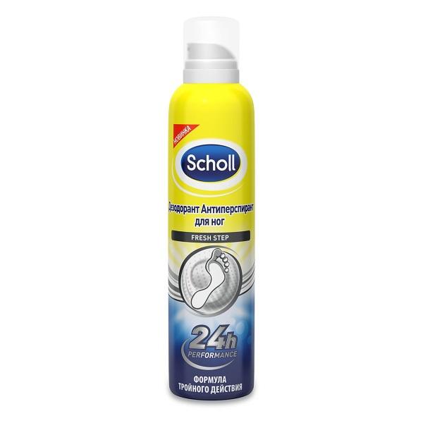 Шолль устранение неприятного запаха дезодорант- антиперспирант, для ног Фреш Степ 150мл