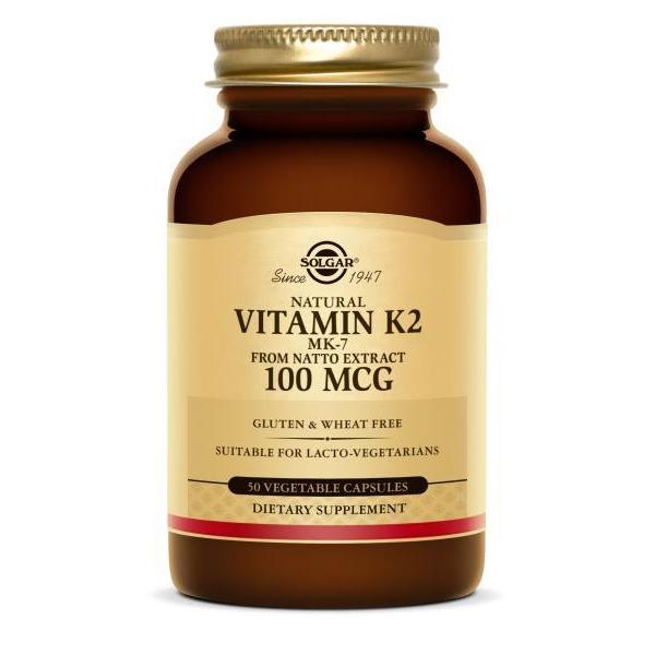 Солгар (витамин К2 капс. 100мкг (менахинон 7) №50)