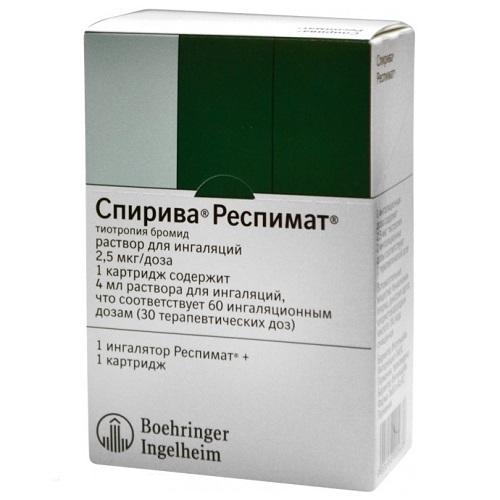 Спирива респимат (р-р д/инг. 2,5 мкг/доза картриджи 4,5мл 60доз)