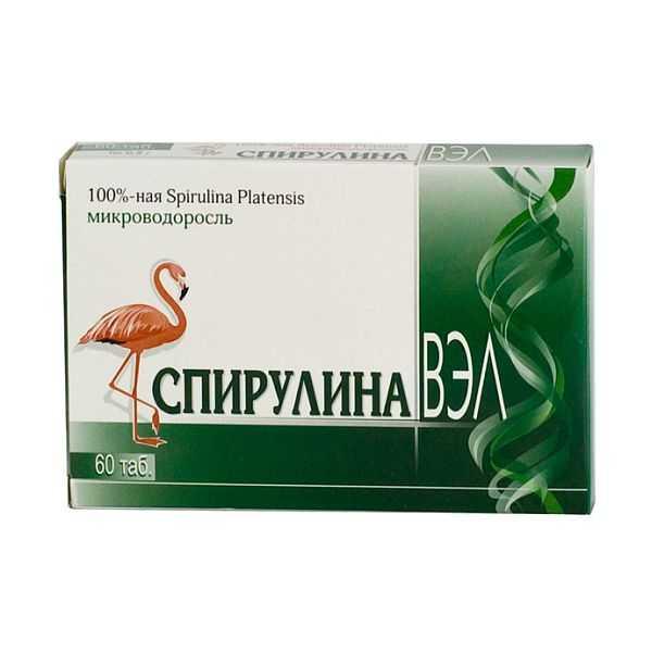 Спирулина ВЕЛ таблетки №60