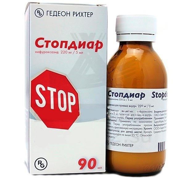 Стопдиар (сусп. д/вн. приема 220мг/5мл 90мл)