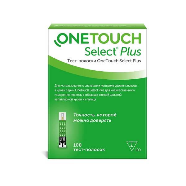Тест-полоски One Touch Select Plus №100