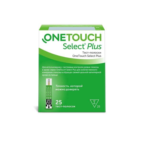 Тест-полоски One Touch Select Plus №25