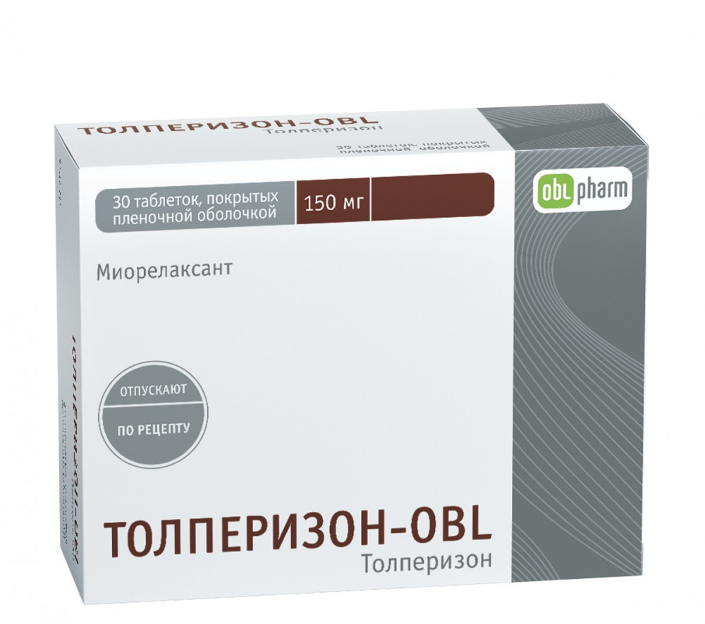 Толперизон-OBL (таб.п.пл/об.150мг №30)