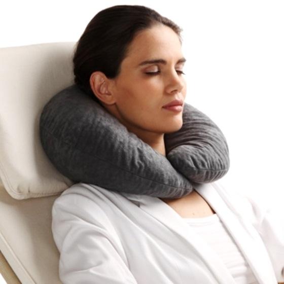 Трелакс подушка ортопедическая Дива П08 для отдыха/путешествий серая