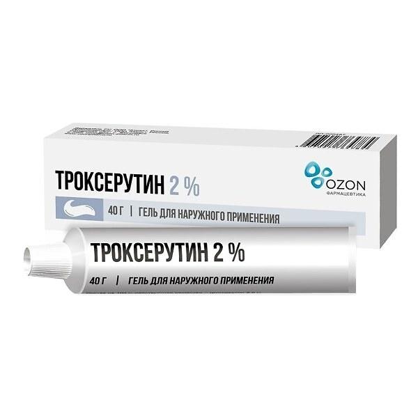 Троксерутин гель (туба 2% 40г)