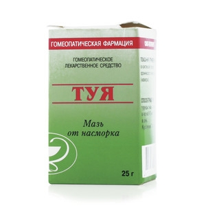 Туя гомеопат. мазь (туба 25г)