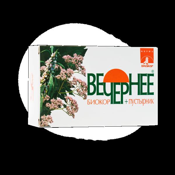Вечернее + Пустырник Биокор №120 Валериана + Пустырник