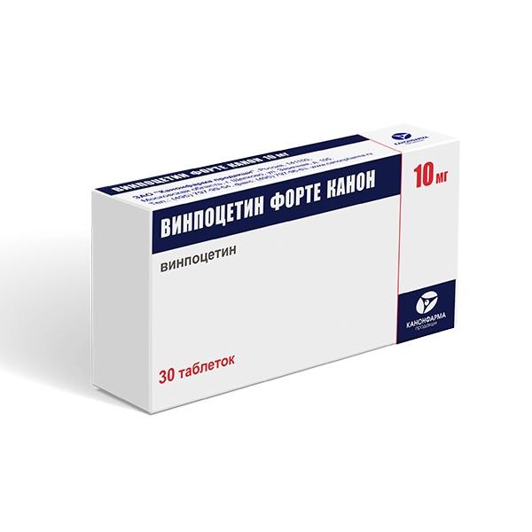 Винпоцетин Форте Канон таблетки 10мг №30