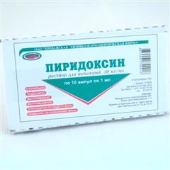 Витамин В6 (пиридоксина г/х) (амп. 5% 1мл №10) фото